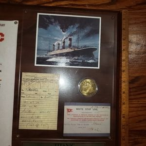 None Accents - Titanic Collector's Wall Art Plaque